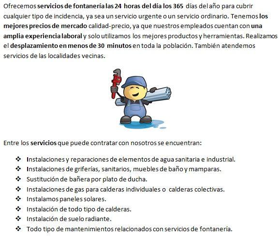 fontaneros Barcelona servicios profesionales
